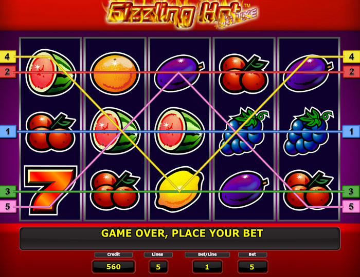 sizzling hot deluxe online game